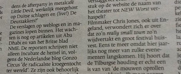 Ominocity quoted in Dutch newspaper