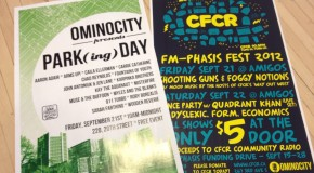 Ominocity to Present Park(ing) Day and CFCR FM-Phasis This Weekend